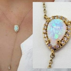 Opal Y-Necklace
